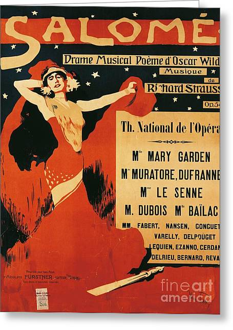 Poster Of Opera Salome Greeting Card by Richard Strauss