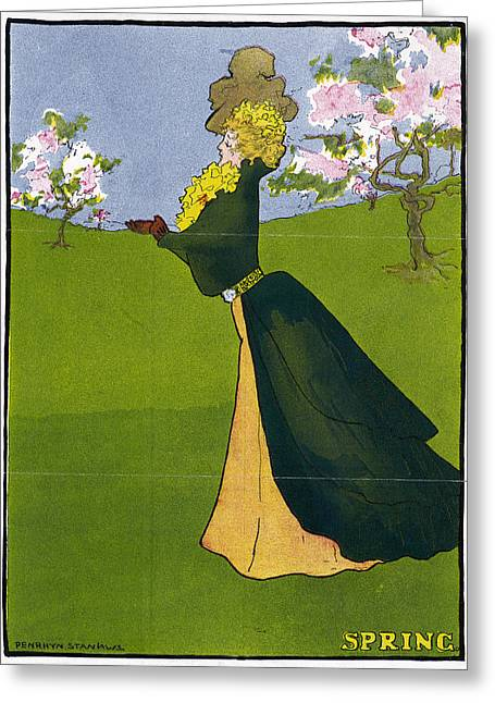 Poster Spring, 1907 Greeting Card by Granger