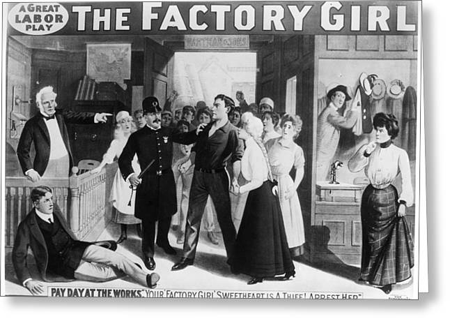 Poster The Factory Girl Greeting Card by Granger
