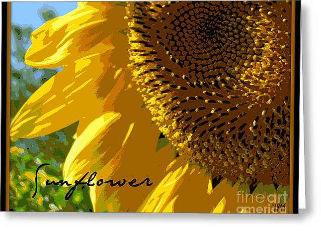 Greeting Card featuring the photograph Posterized Sunflower by Heidi Manly