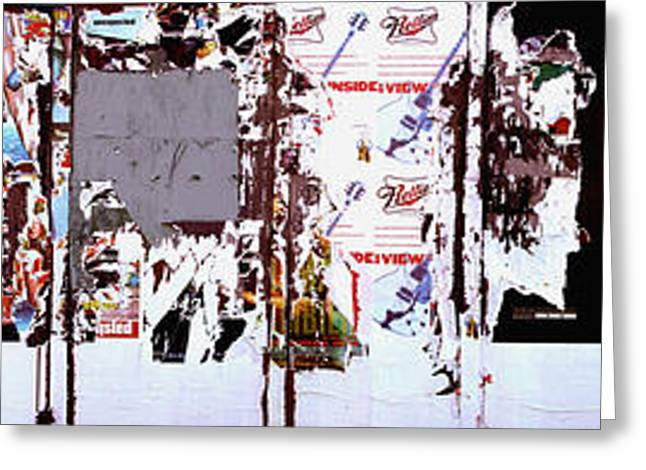 Posters And Flyers On A Wall, Milwaukee Greeting Card by Panoramic Images