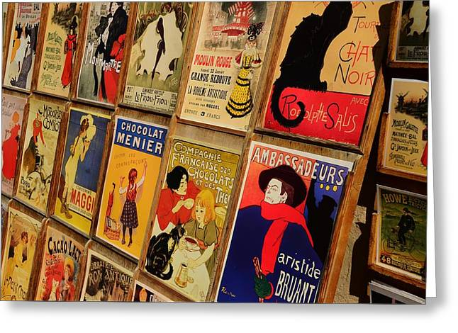 Posters In Paris Greeting Card by Dany Lison