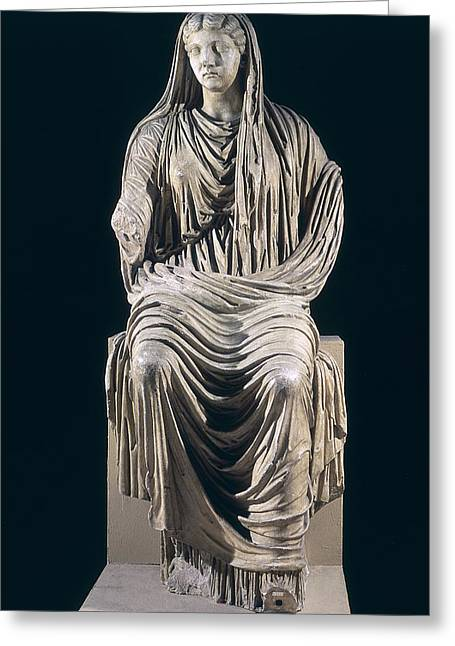 Posthumous Statue Of Livia Greeting Card by Roman School