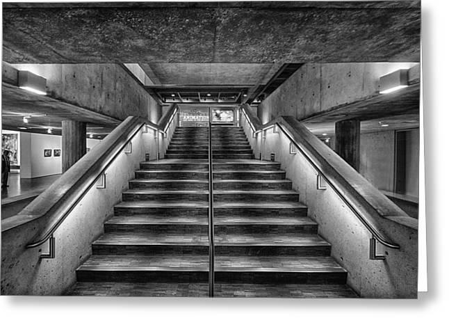 Postmodern Stairs Greeting Card