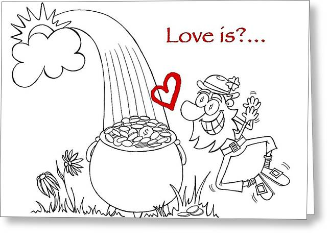 Pot Of Gold Valentines  Greeting Card