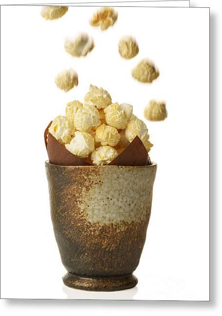 Pot Of Popcorn Greeting Card