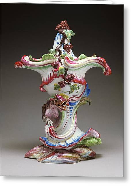 Pot Pourri Vase Jacques Chapelle, French, Born 1721, Active Greeting Card by Litz Collection