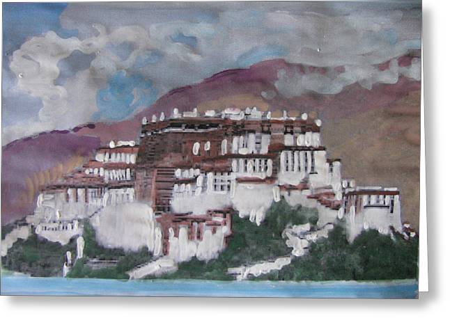 Potala Palace In Lhasa Tibet Greeting Card by Vikram Singh