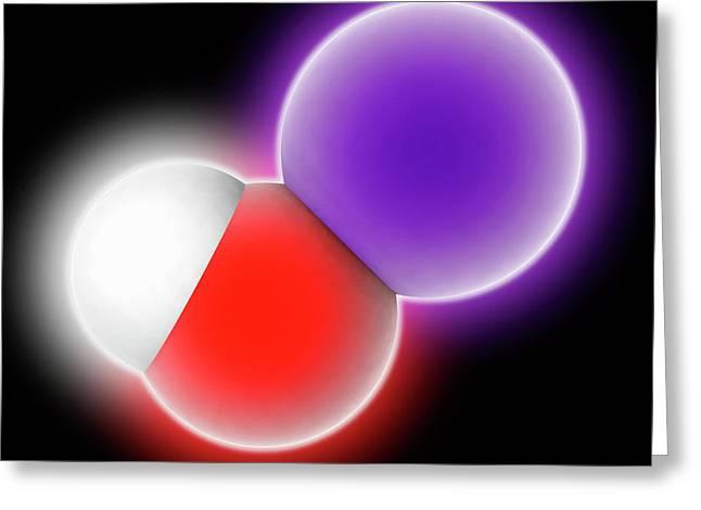 Potassium Hydroxide Molecule Greeting Card by Laguna Design