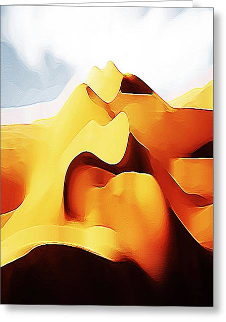 Potato Chip Mountains Greeting Card by Bruce Iorio
