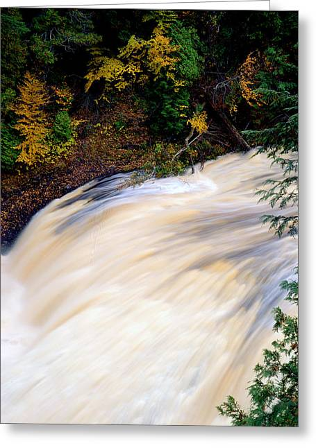 Potawatami Falls Greeting Card by Tim Hawkins