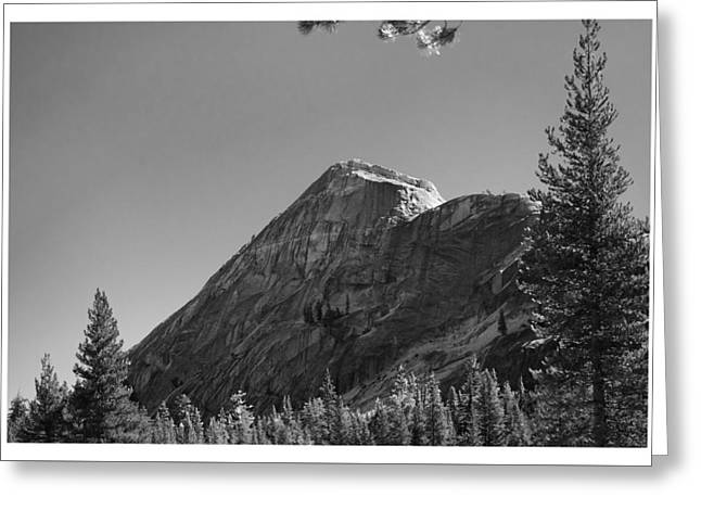 Pothole Dome In Yosemite Greeting Card