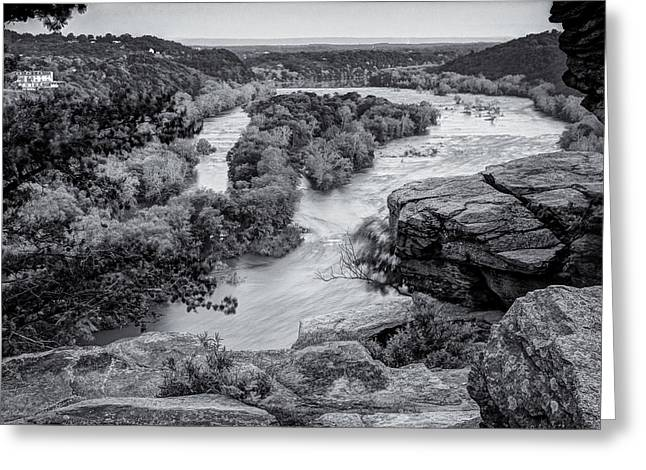 Potomac River From Maryland Heights Greeting Card by Geoffrey Baker