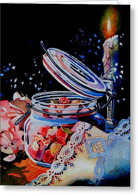 Potpourri And Lace Greeting Card by Hanne Lore Koehler