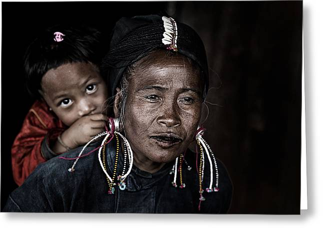 Potrait Myanmar Greeting Card