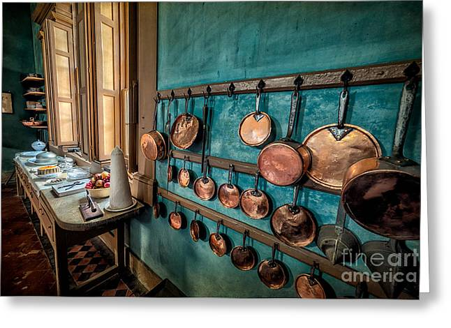 Pots And Pans Greeting Card by Adrian Evans