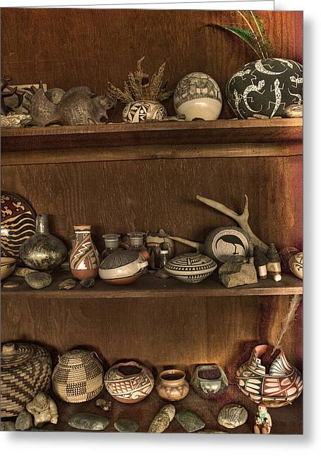 Pots And Things Greeting Card by William Fields