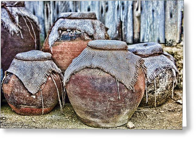 Pots Greeting Card by Karen Walzer