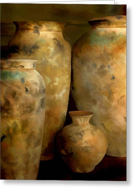 Greeting Card featuring the painting Pots Of Time by Michael Pickett