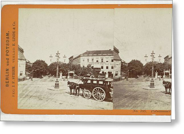 Potsdamer Platz, Berlin, Germany, Johann Friedrich Stiehm Greeting Card by Artokoloro