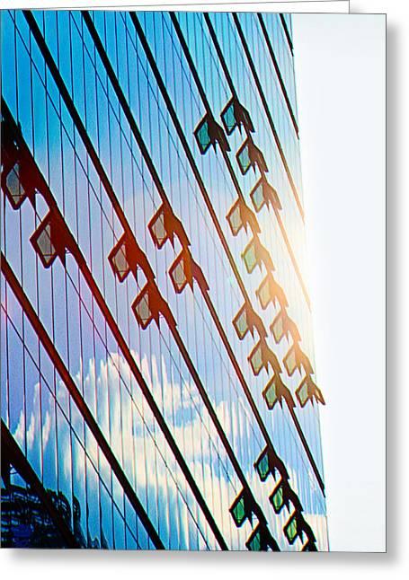 Potsdamer Platz Berlin  Glass Facades Greeting Card by Li   van Saathoff