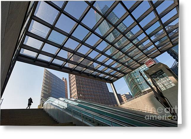 Potsdamer Platz Station Greeting Card by Rod McLean