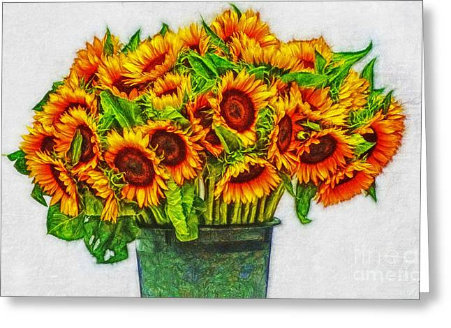Potted Sunflowers Greeting Card