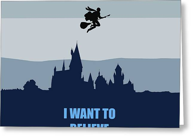 Potter I Want To Believe Greeting Card by Koko Priyanto