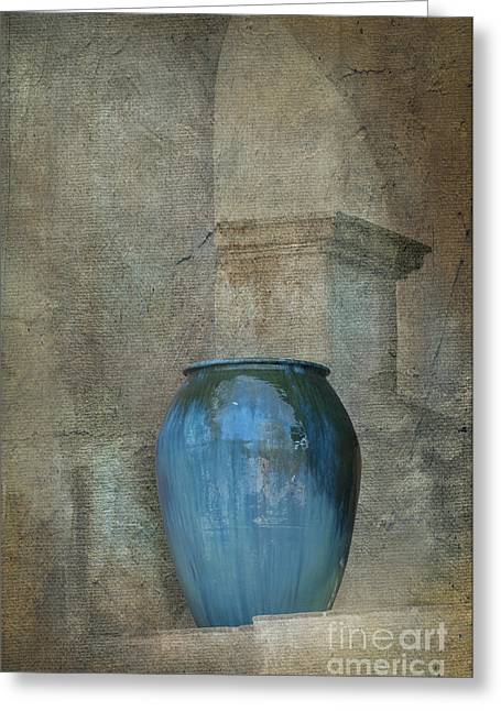 Pottery And Archways II Greeting Card by Sandra Bronstein