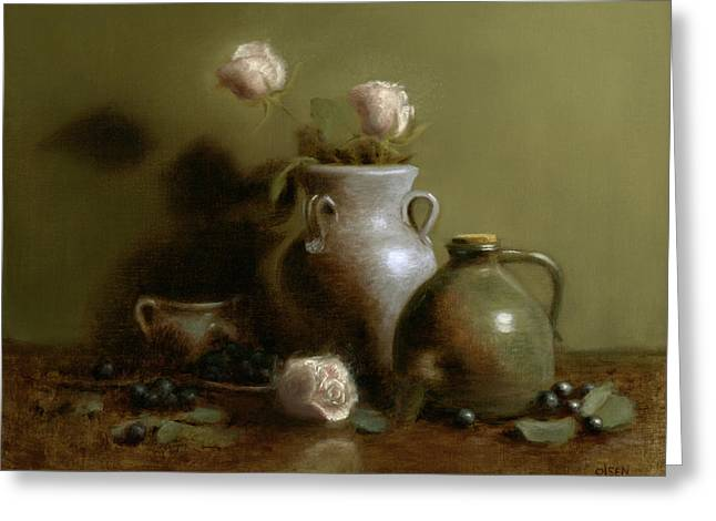 Pottery Collection. Greeting Card by Christy Olsen