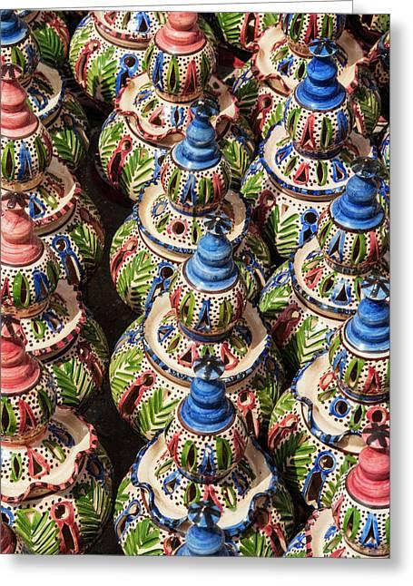 Pottery For Sale, Tabarka, Tunisia Greeting Card