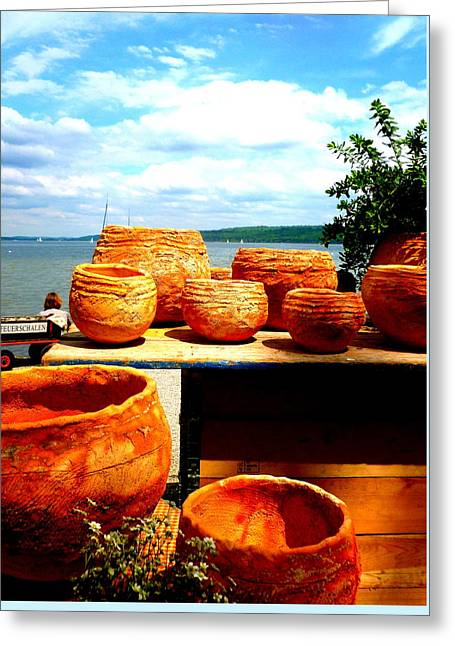 Pottery Market Diessen Greeting Card by The Creative Minds Art and Photography