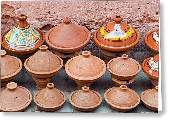 Pottery Pans (tajiniere Greeting Card by Nico Tondini