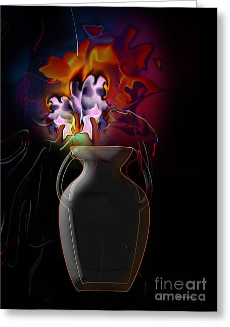 Pottery Vase Flowers 2 Greeting Card