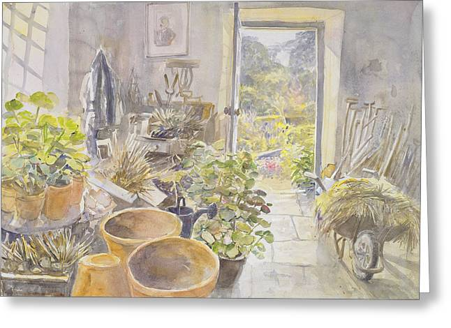 Potting Shed At La Forge De Buffon Wc Greeting Card by Tim Scott Bolton