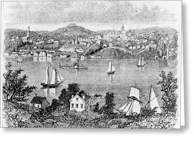 Poughkeepsie, C1840 Greeting Card by Granger