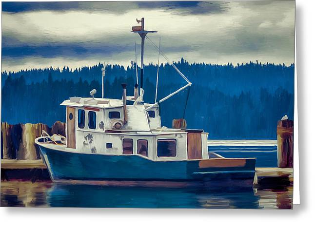 Poulsbo Waterfront 03 Greeting Card by Wally Hampton