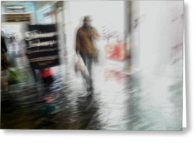 Greeting Card featuring the photograph Pounding The Pavement by Alex Lapidus