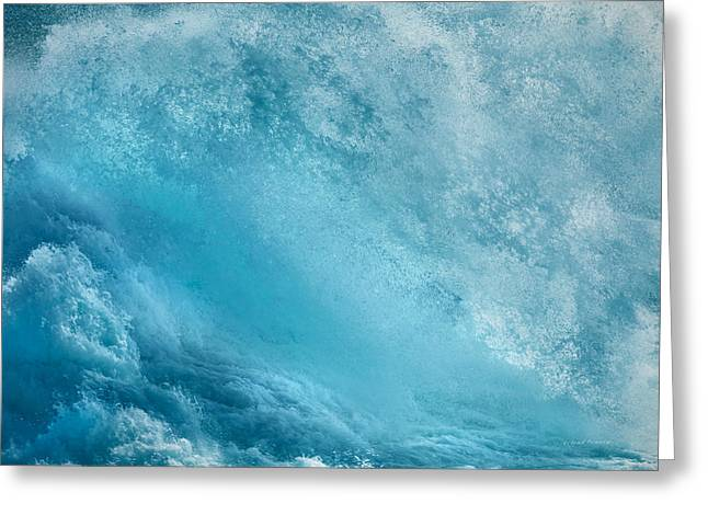 Pounding Waves Greeting Card by Leland D Howard