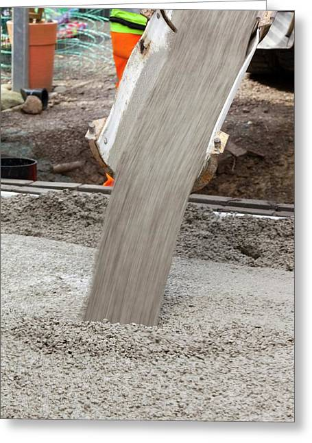 Pouring Concrete Greeting Card