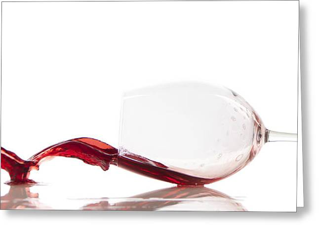 Pouring Red Wine In A Glass Greeting Card