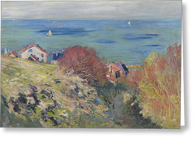 Pourville Greeting Card by Claude Monet
