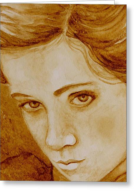 Pout Greeting Card by Julee Nicklaus