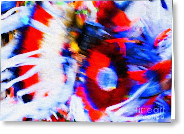 Pow Wow Abstract Greeting Card