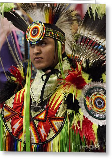 Pow Wow First Nations 17 Greeting Card by Bob Christopher