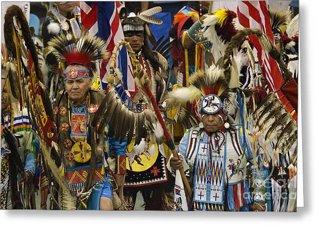 Pow Wow Gathering Of The People Greeting Card by Bob Christopher
