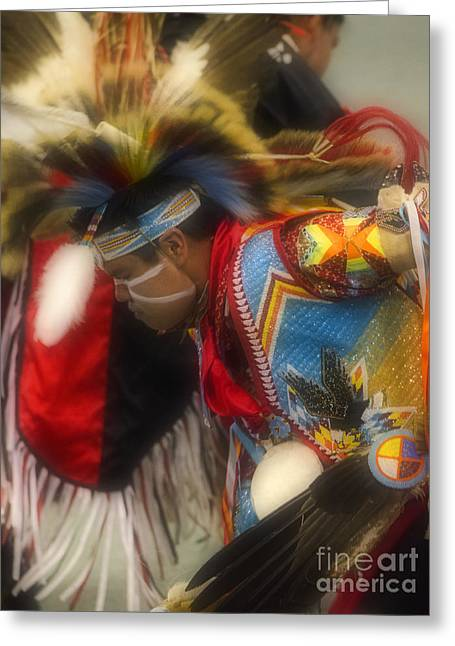 Pow Wow The Spirit Of Dance Greeting Card by Bob Christopher
