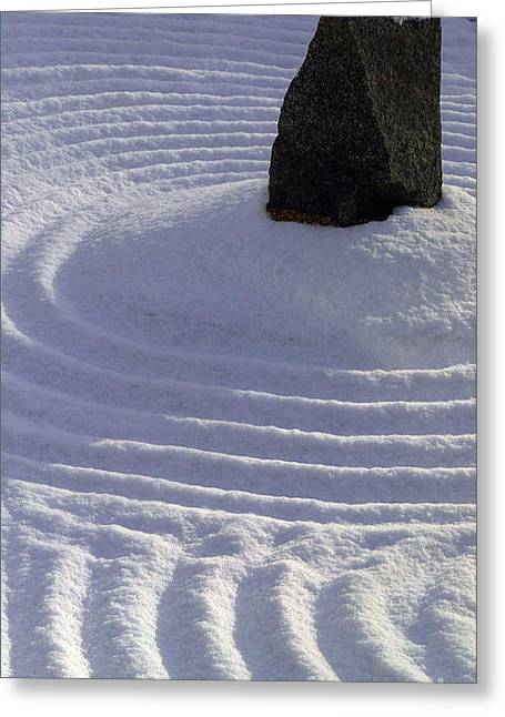 Powder In Zen One Greeting Card by Feile Case