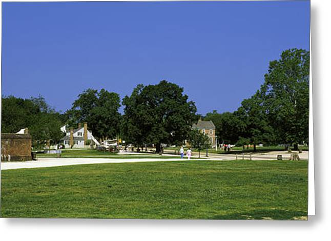 Powder Magazine And Courthouse Greeting Card by Panoramic Images