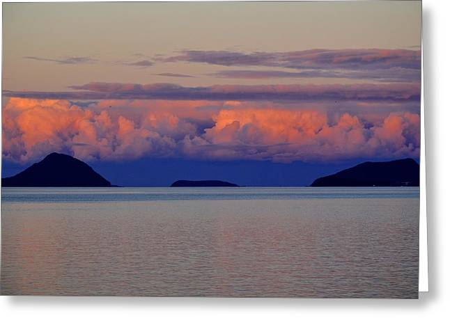 Powdered Sky Greeting Card by Marty  Cobcroft